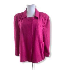 Talbots Knit Blazer Jacket Pink 3/4 Sleeves Lined